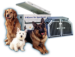 everything for your darling: dog boxes, dog trailers, agility products